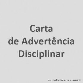 Carta de Advertência Disciplinar