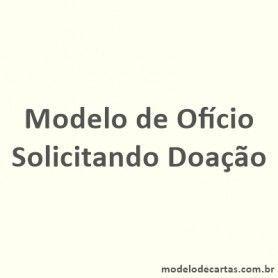 Modelo de Ofício Solicitando Doação