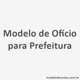 Modelo de Ofício para Prefeitura