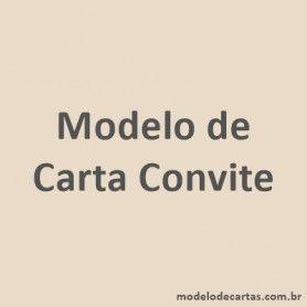 Modelo de Carta Convite