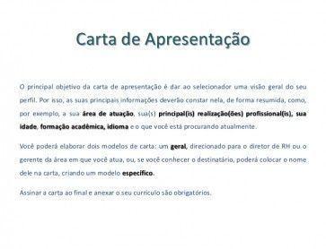Carta de apresentação para assistente administrativo
